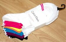 CK CALVIN KLEIN SPORT TRAINER GYM FITNESS SOCKS EU 37-41 UK 4-7 6 PAIRS! rrp £20