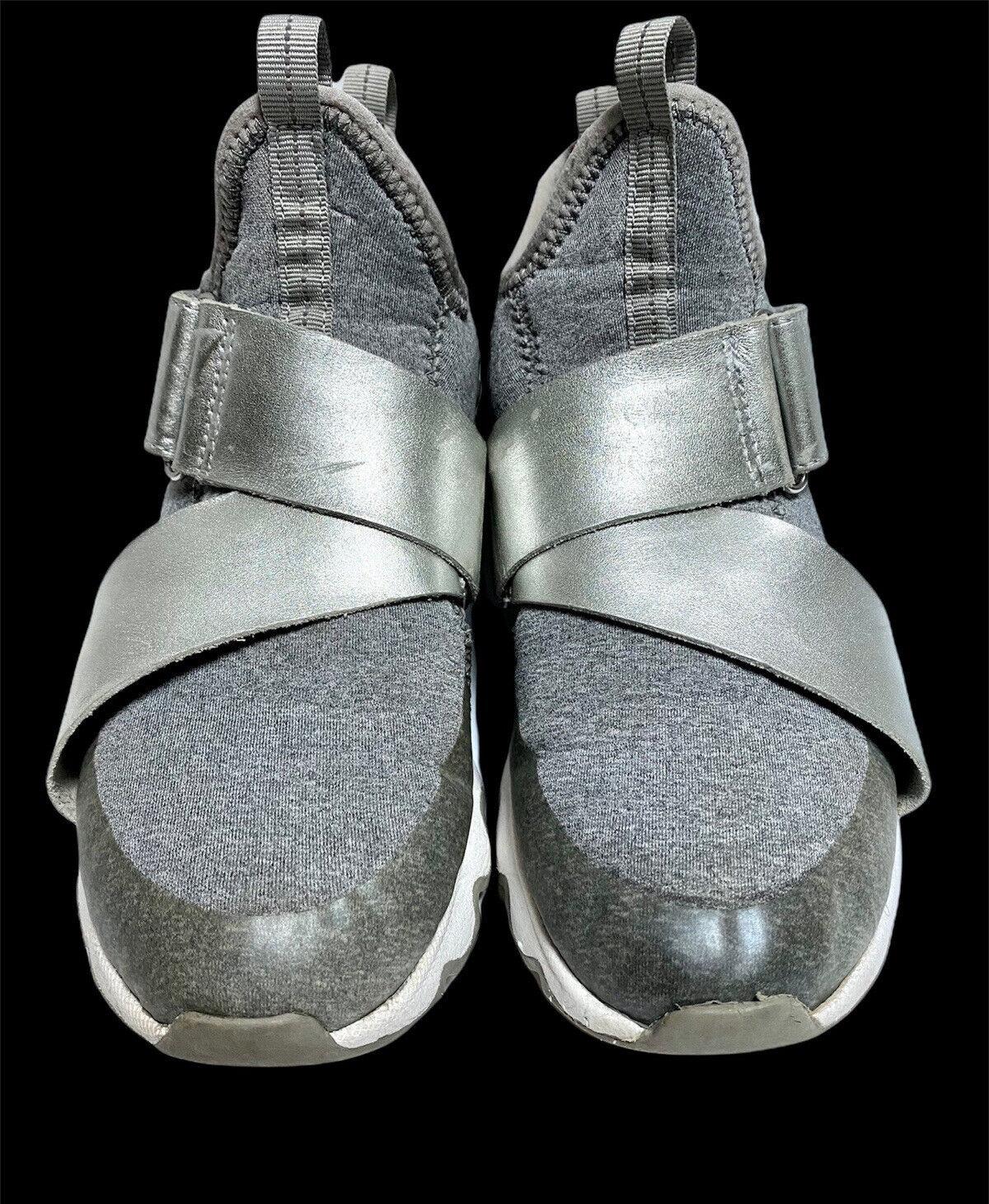 Sorel Kinetic Sneaker Women's High Top Trainer Gray Silver Space Shoe - Size 7