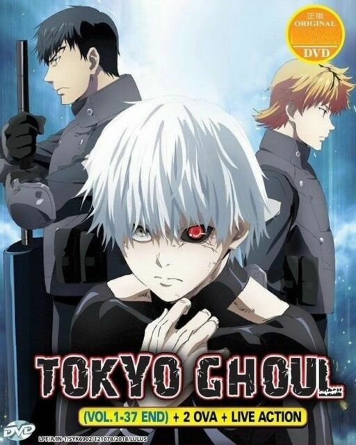 DVD Tokyo Ghoul Vol 1-49 +2 OVA + Live Action Japan Anime Box Set English Dubbed