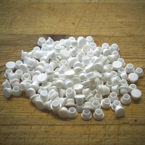 Weiß 6mm Stanzen Abdeckkappen Für 6mm Durchmesser Löcher