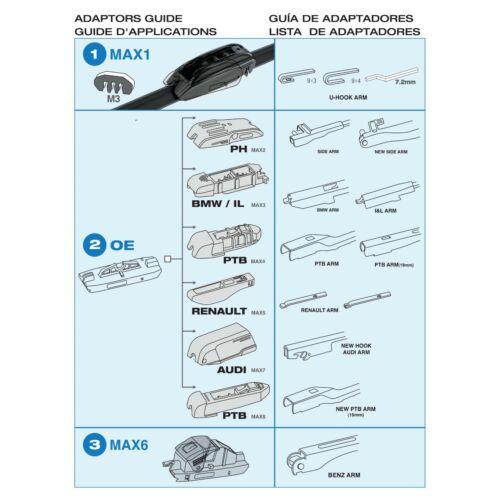 Acqua Max All Year Windscreen Wiper Blades Kit BLACK Pair for SKODA KODIAQ 2017