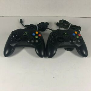 OEM-Microsoft-Xbox-Controllers-Lot-of-2-S-Type-X08-69873-Untested