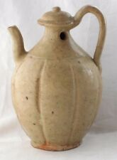 C13TH CHINESE SONG DYNASTY UNGLAZED FACETED EWER