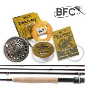 BFC descubrimiento HPS de pesca con mosca Set 7.6ft 3wt 4pc
