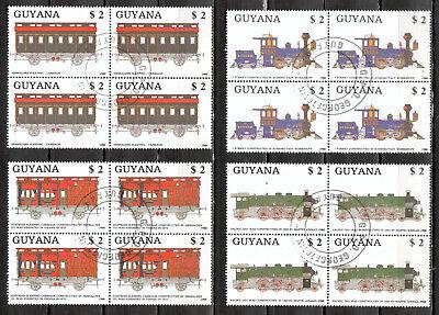 übersee:6510 Angemessen Guyana Michelnummer 2475-2478 Gestempelt StäRkung Von Sehnen Und Knochen