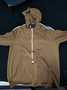Details about Nike Sportswear Poly 12 Half Zip Taped Hoodie Men's Size L ale brown