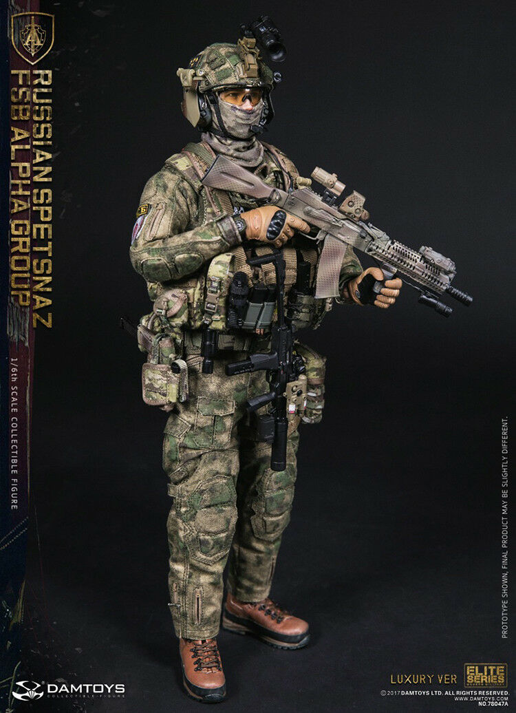 1/6 DamToys Russian Spetsnaz Fsb Alpha Group Luxury Ver 78047 A DAM Figure