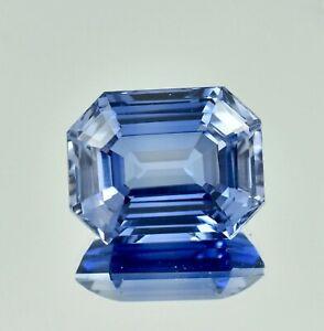 14.60 Ct Natural Flawless Kashmir Blue Sapphire Radiant Loose Cut Gemstone 14x11