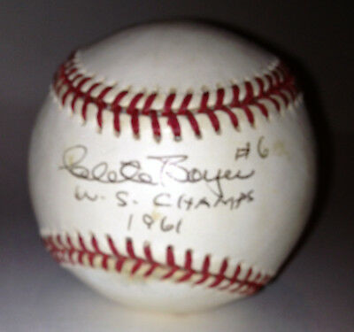 "Clete Boyer Autographed Baseball ""ws Champs 1961"" Balls"