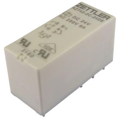 TE Connectivity RT424F24 Relais 24V DC 2xUM 8A Power PCB Relay bistable 855272