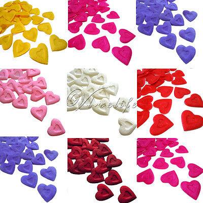100 Rose Petals Heart Design Silk Wedding Party Xmas New Flower Decorations