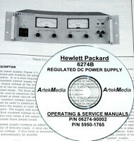 Hp Hewlett Packard 6274b Dc Power Supply , Operating & Service Manual