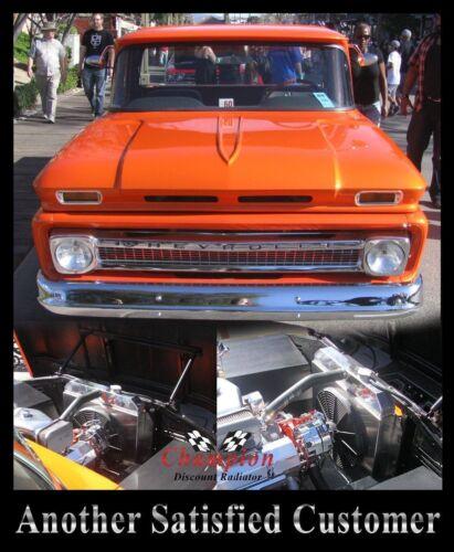 "1960 1961 1962 C//K Chevy Apache Pickup Truck 3 Row RR Radiator 16/"" Fan"