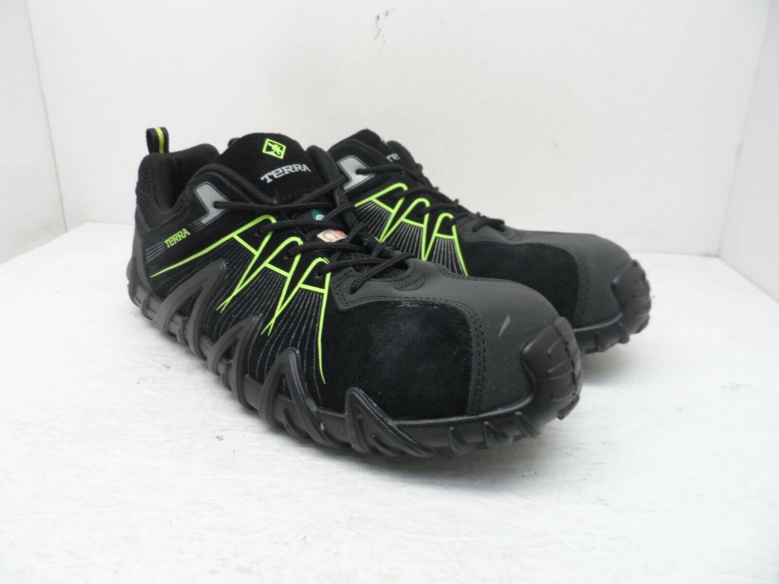 TERRA Men's Spider 3.0 Composite Toe Composite Plate Athletic Shoes Black 12M