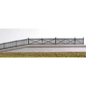 GWR-Spear-Fencing-with-Ramp-amp-Gates-Black-N-Scale-Ratio-246-F1
