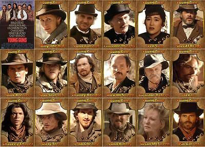 Young Guns movie Trading cards Western Estevez Sheen Sutherland Billy The Kid
