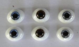DOLL EYES Reborning Yeux en verre de 6 mm de Poupées anciennes ou modernes