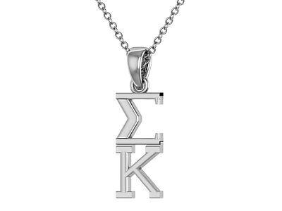 Alpha Gamma Delta Sterling Silver Necklace Alpha Gam Lavalier //Big Little Gift