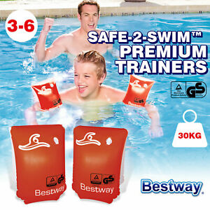 Bestway Baby Solid Swimming Float Swim Trainer Safety Aid Pool Water Fun Toy Gif