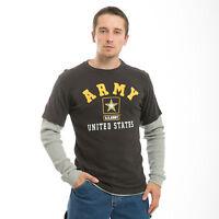 United States Us Army Star Military Long Thermal Sleeves T-shirt T-shirts Shirt