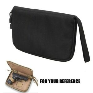 Tactical-Pistol-Gun-Padded-Case-Portable-Handgun-Holster-Pouch-Bag-Hunting-Black