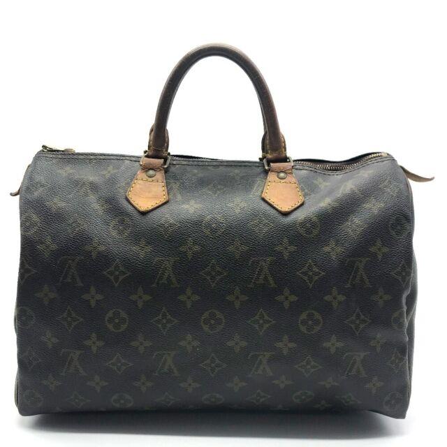Louis Vuitton Speedy 35 Monogram Handbag Brown For Sale Online Ebay