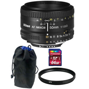 Nikon-AF-NIKKOR-50mm-f-1-8D-Lens-with-64GB-Top-Accessory-Kit