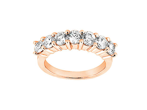 Genuine 1.05ct Diamond Wedding Band Ring 14k Rose Gold Round G SI1 Channel Set