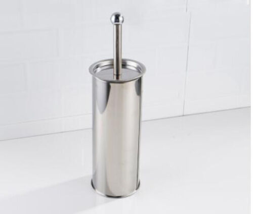 Stainless Steel Bathroom Toilet Brush Cup Holder Set Wall Mounted Storage Shelf