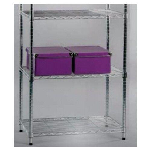 Bücheregal 5 Böden verstellbar 60 cm Metallregal Schuhregal 44215C5 Regal