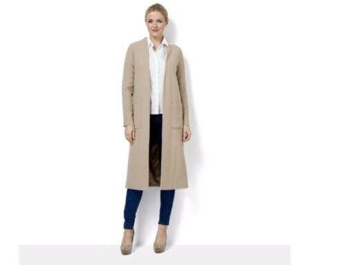 Bb Throw On Edge Coat Helene Sand Re078 Uk 14 Berman To 08 £125 Rrp g7C6q