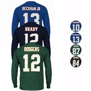 NFL-Majestic-034-Eligible-Receiver-034-Player-Jersey-Long-Sleeve-T-Shirt-Collection