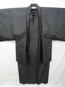 UNUSED-Men-039-s-Indigo-Silk-034-Tsumugi-Kimono-amp-Haori-034-Ensemble-B200