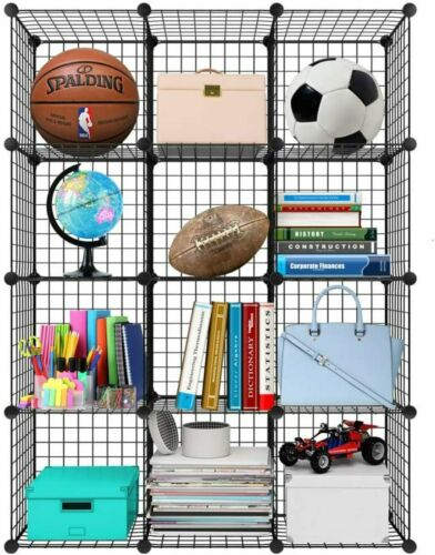 12 Cube Wire Grid Storage DIY Closet Cabinet Bookcase Shelving shelf Rack