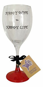 Image Is Loading Happy Wife Life Hand Painted Novelty Wine