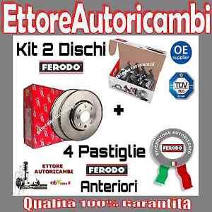 KIT-DISCHI-PASTIGLIE-FERODO-ANTERIORI-FIAT-GRANDE-PUNTO-1-3MJET-JTD-55Kw-75CV