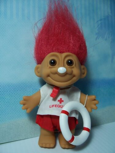 "5/"" Russ Troll Doll LIFEGUARD NEW IN ORIGINAL WRAPPER"