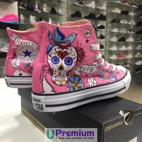 Scarpe Call Hope All Magic Love Messicano Teschio Star Rosa Converse It Disegnat wv6AqZ07