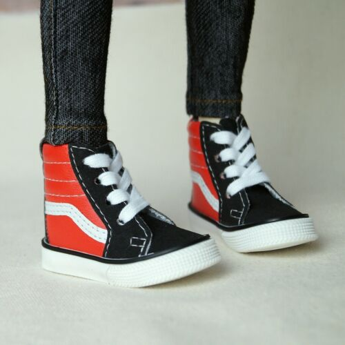 """Black/&Red Sneakers Synthetic Leather Shoes For 1//4 17/"""" BJD MSD AOD AS DOLL G/&D"""