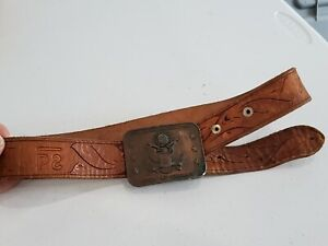 Philmont Scout Ranch Leather Belt Stamped Cimarron New Mexico BSA S