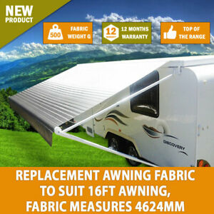 New 16 Ft Awning Replacement Caravan Roll Out Awning Pvc Vinyl Fabric Carefree Ebay