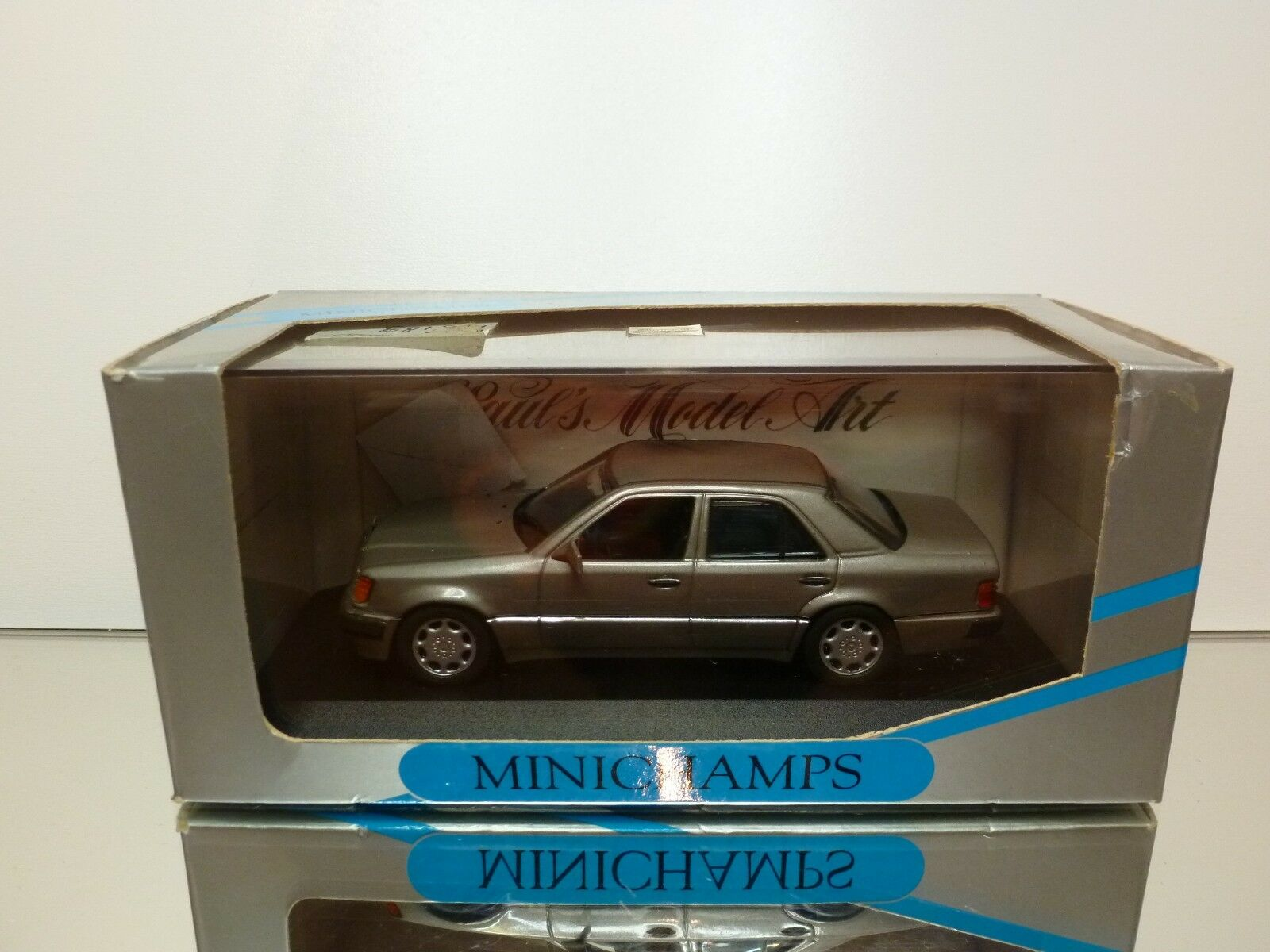 MINICHAMPS 3241 MERCEDES BENZ 500E V8 - ANTHRACITE 1 43 - EXCELLENT IN BOX