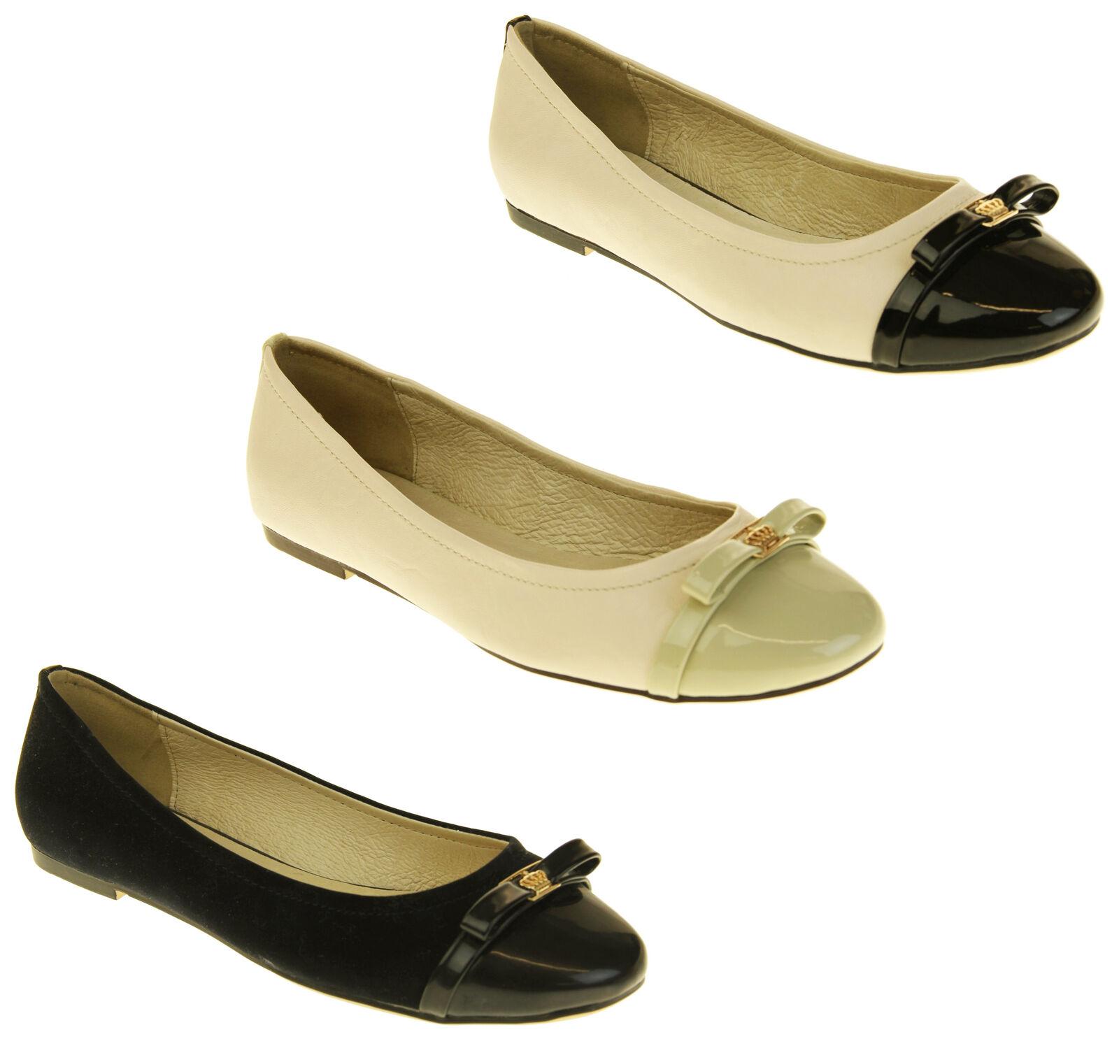 Womens Keddo Leather Slip On Ballet Ballerina Loafers Size 3 4 5 6 7 8
