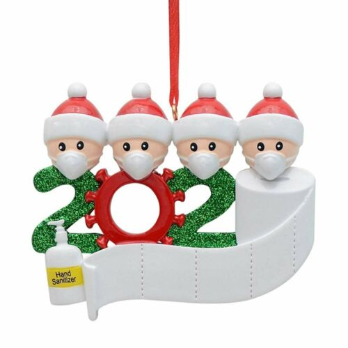 Merry Christmas 2020 Snow Family Santa Claus Home Party Gifts Hanging Ornaments