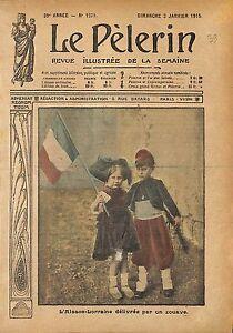 """Style Belle Epoque Alsace Lorraine Jeune Zouave France WWI 1915 ILLUSTRATION - France - Commentaires du vendeur : """"OCCASION ATTENTION,QUE LA COUVERTURE, PAS LE JOURNAL ENTIER. Just the cover, not newspaper."""" - France"""