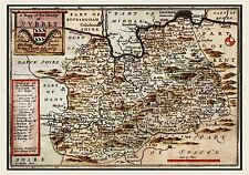 MAP 17TH CENTURY HOLLAR SURREY HUNDREDS ENGLAND REPLICA POSTER PRINT PAM0254