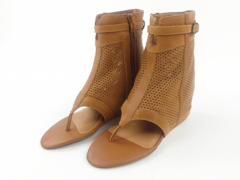 ORIGINAL 8020nyc Zapatos Sandalias Traje Sophie Marrón Cuero NUEVO
