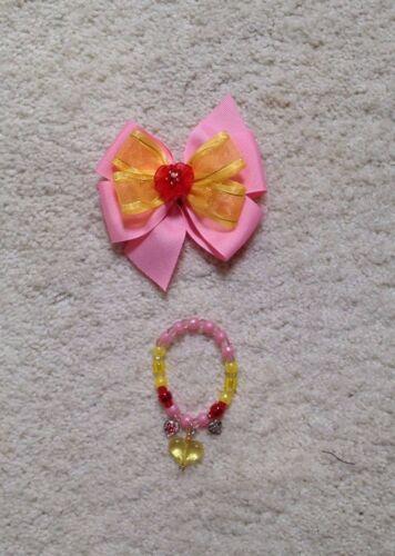 2T-9//10 Handmade Pink Princess Belle Beauty//Beast Dress Toddler//Girls Doll Dress