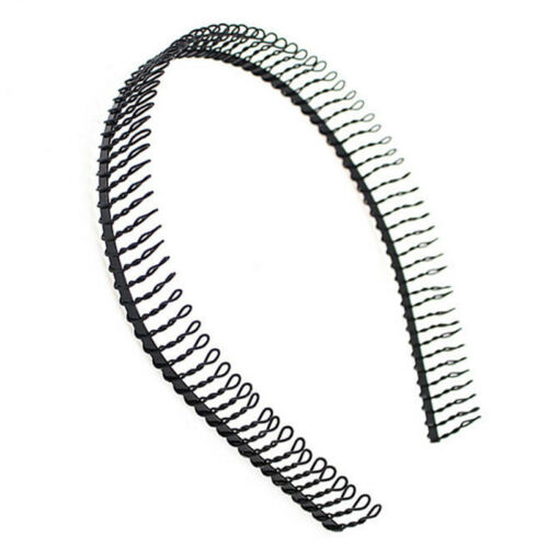 New Practical Black Metal Teeth Comb Hairband HairHoop Headband For Woman FL