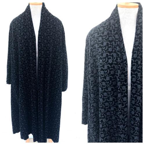 Vintage VTG 1940s 40s Black Velvet Embroidered Ope